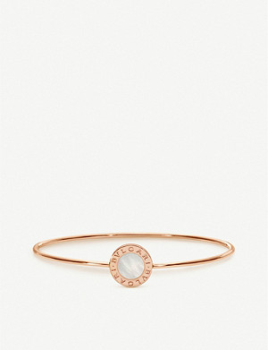 BVLGARI Bvlgari Bvlgari 18ct rose-gold and mother-of-pearl bangle