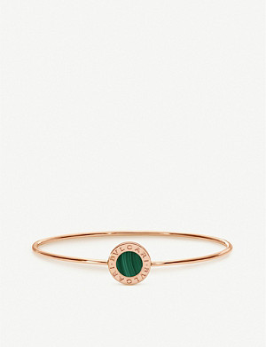 BVLGARI Bvlgari Bvlgari 18ct rose-gold and malachite bangle
