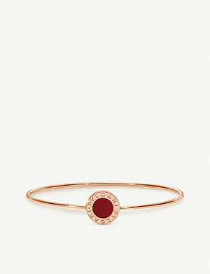 BVLGARI Bvlgari Bvlgari 18ct rose-gold and carnelian bangle