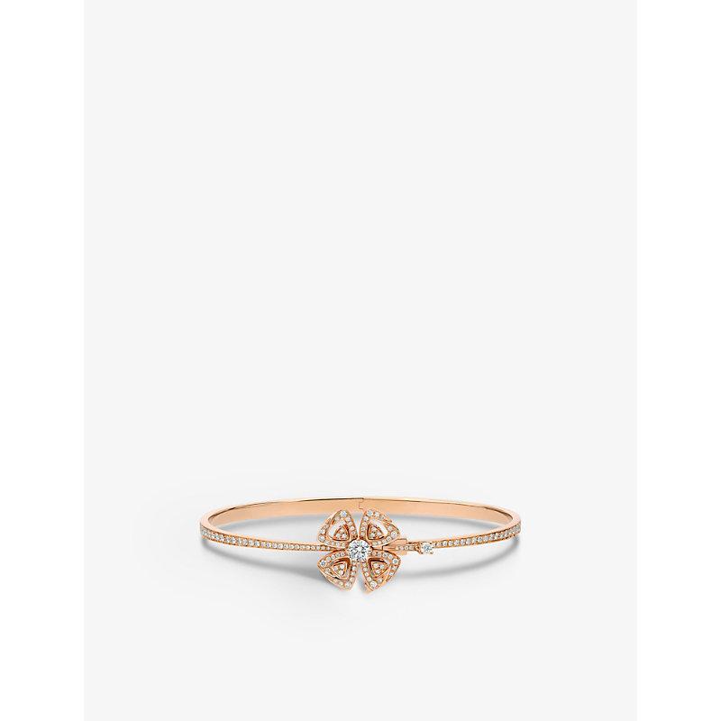 BVLGARI   Fiorever 18ct Rose-Gold And Diamond Bracelet   Goxip