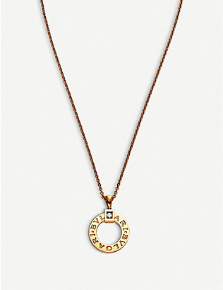 BVLGARI: Bvlgari Bvlgari 18kt pink-gold and diamond necklace