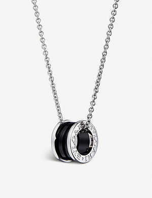 BVLGARI Save the Children black ceramic and sterling silver pendant necklace