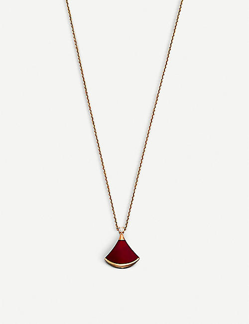 BVLGARI: Divas' Dream 18kt pink-gold and diamond necklace