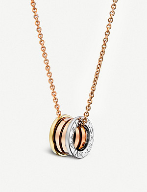 BVLGARI B.zero1 18kt pink, white and yellow-gold necklace