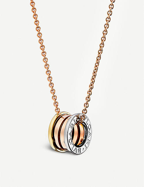 BVLGARI: B.zero1 18kt pink, white and yellow-gold necklace