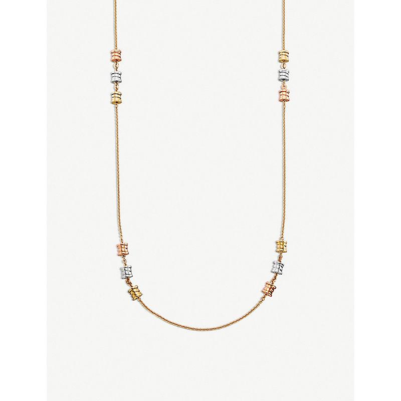 BVLGARI   Bvlgari B.Zero1 Sautoir 18ct Pink, White And Yellow-Gold Necklace   Goxip
