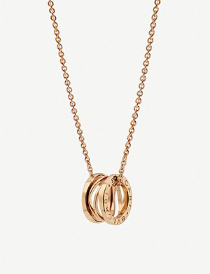 BVLGARI B.zero1 Zaha Hadid four band 18ct pink-gold necklace