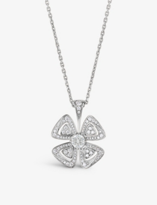 BVLGARI Fiorever 18ct white-gold and diamond necklace