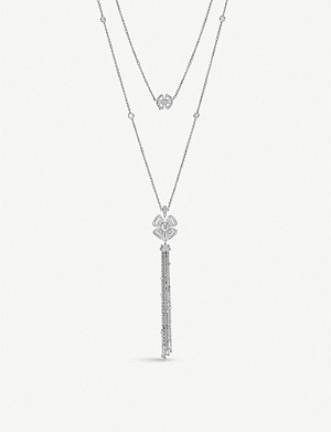 BVLGARI Fiorever 18ct white-gold and diamond necklace set