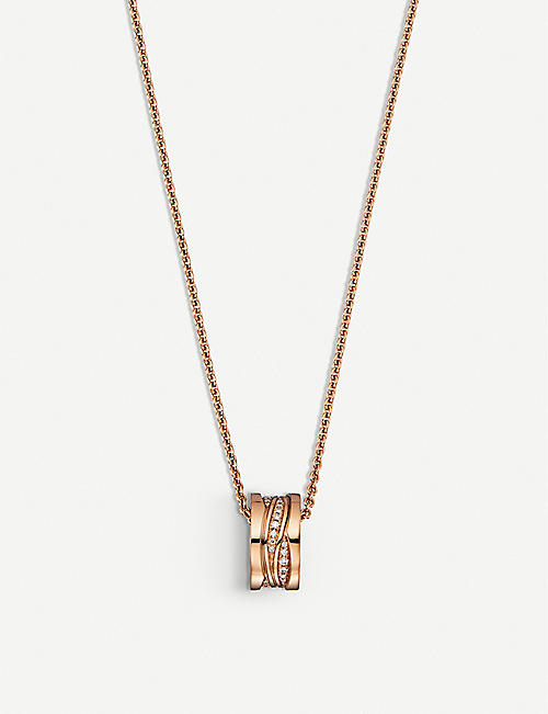 BVLGARI: B.Zero1 18ct rose-gold and diamond necklace