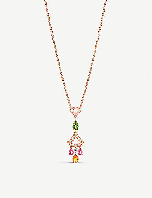 BVLGARI Diva's Dream 18ct rose-gold and diamond necklace