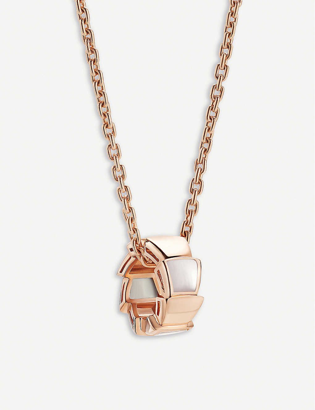 18b8fae270a7a BVLGARI Serpenti viper 18ct rose-gold and demi pavé diamond necklace