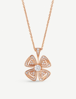 BVLGARI Fiorever 18ct rose-gold and diamond necklace