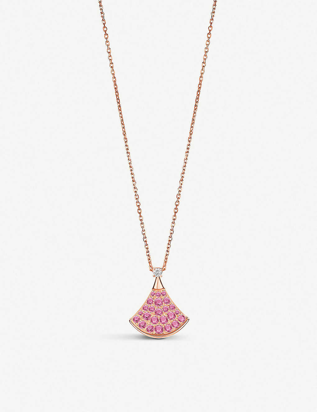 39001085e6a0d BVLGARI Diva's Dream 18ct rose-gold, pink sapphire and diamond necklace
