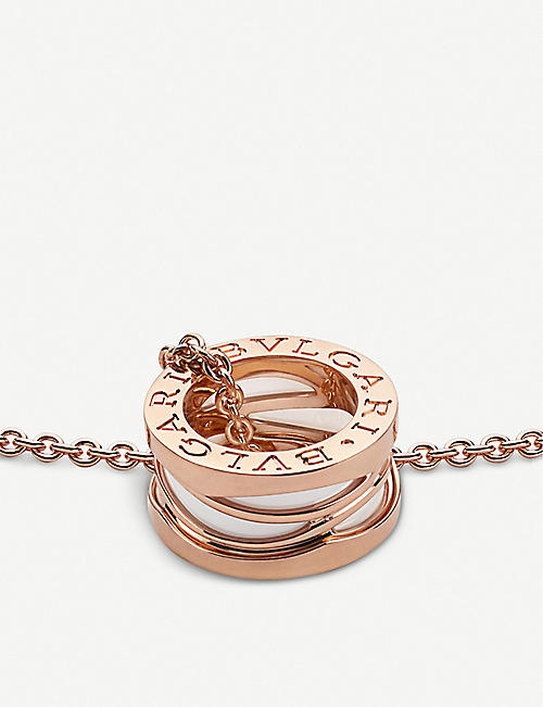 BVLGARI B.zero1 XXth Anniversary 18ct rose-gold and ceramic necklace