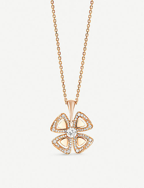 BVLGARI: Fiorever 18ct rose-gold and diamond necklace