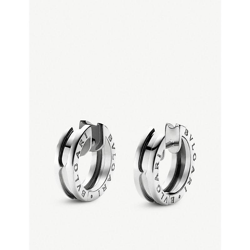 BVLGARI   B.Zero1 18kt White-Gold Earrings   Goxip