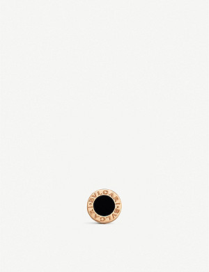 BVLGARI Bvlgari Bvlgari 18ct rose-gold and onyx earring