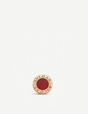 BVLGARI Bvlgari Bvlgari 18ct rose-gold and carnelian earring