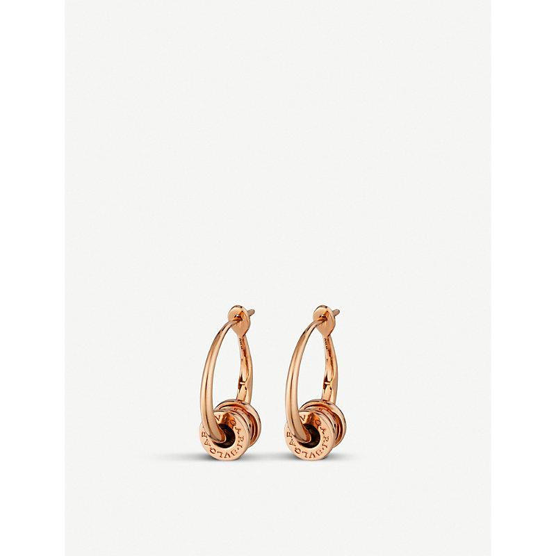 BVLGARI   B.Zero1 18ct Rose-Gold Hoop Earrings   Goxip