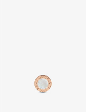 BVLGARI Bvlgari Bvlgari 18ct rose-gold and mother of pearl earring