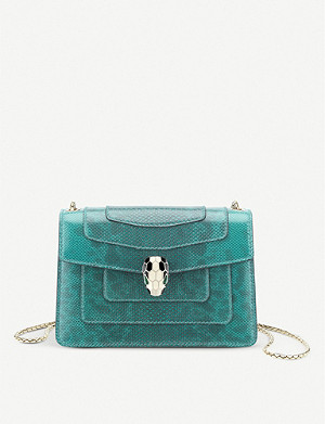 BVLGARI Serpenti Forever micro leather cross-body belt bag