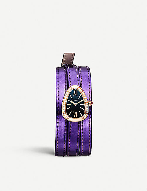 BVLGARI Serpenti interchangable strap watch