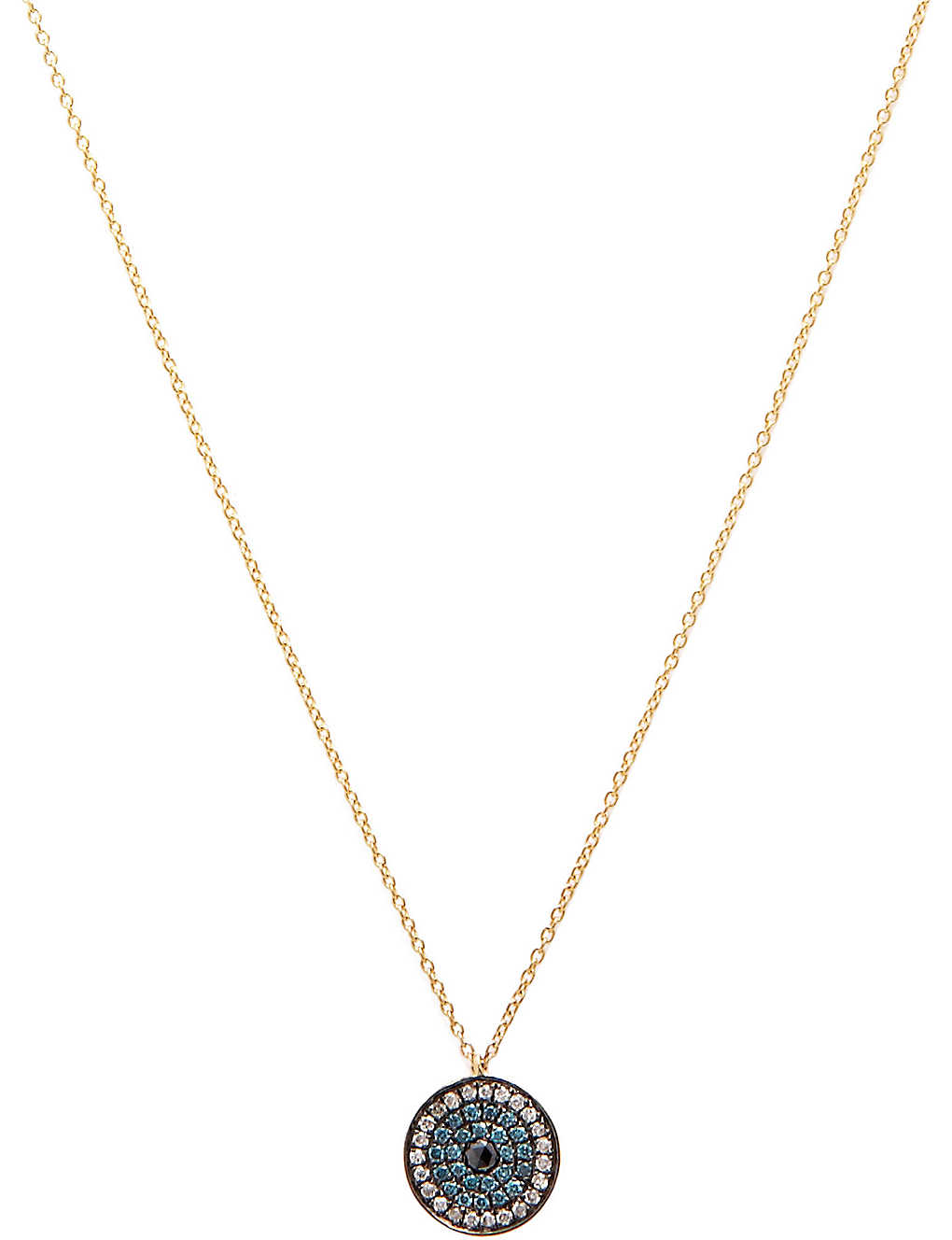 75369ac4f3776 Love Diamonds 18ct yellow-gold and diamond evil eye pendant necklace