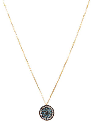 ANNOUSHKA Love Diamonds 18ct yellow-gold and diamond evil eye pendant necklace