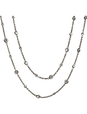 ANNOUSHKA Nectar Night Jasmine rhodium-plated 18ct white-gold and sapphire necklace