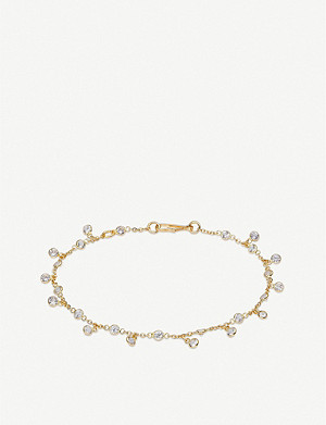 ANNOUSHKA Nectar Jasmine Droplet 18ct yellow-gold and white sapphire bracelet