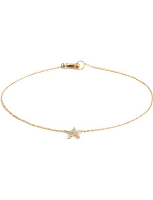 ANNOUSHKA Love Diamonds 18ct yellow-gold starfish bracelet