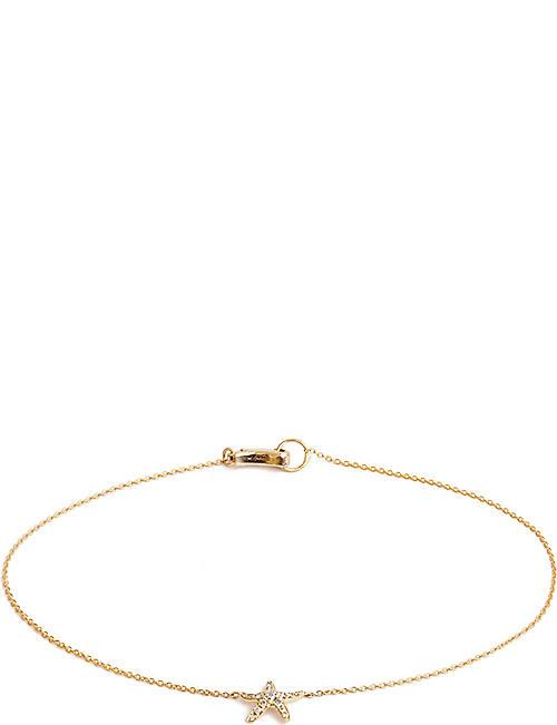 cb3a31f3bae ANNOUSHKA Love Diamonds 18ct yellow-gold starfish bracelet