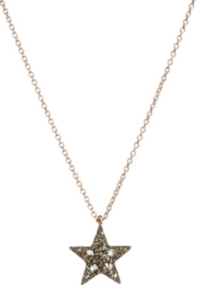 ANNOUSHKA Love Diamonds 18ct rose-gold and diamond star pendant necklace