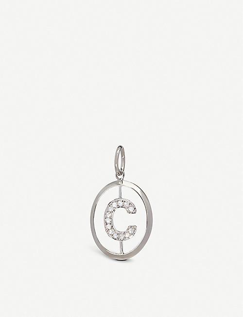 377c9a098273 ANNOUSHKA 18ct white-gold and diamond C pendant
