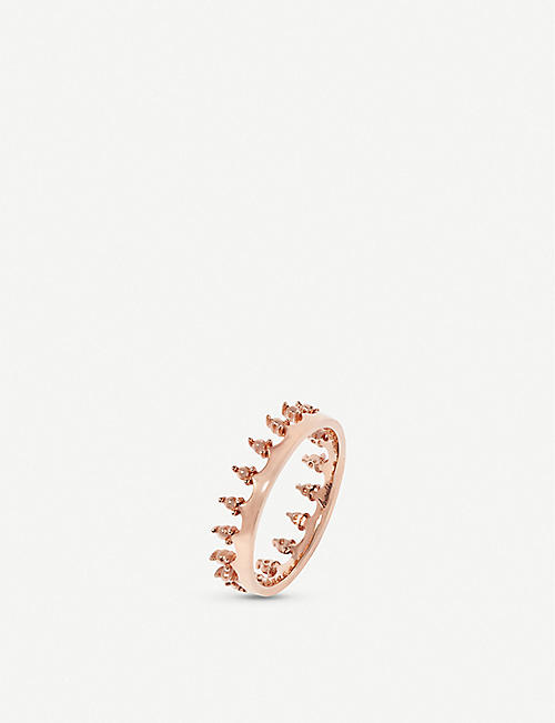 ANNOUSHKA 18ct rose gold Crown ring