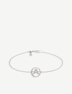 ANNOUSHKA 18ct white-gold and diamond A bracelet