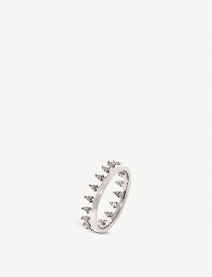 ANNOUSHKA 18ct white gold crown ring