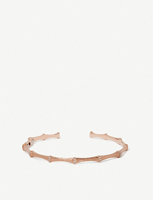 ANNOUSHKA Dream Catcher 18ct rose-gold and diamond bangle