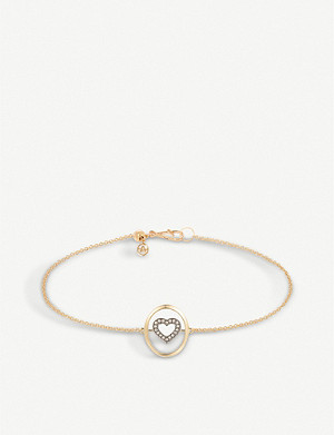ANNOUSHKA 18ct gold and diamond bracelet