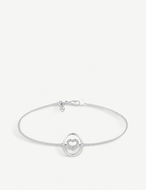 ANNOUSHKA 18ct white-gold and diamond bracelet