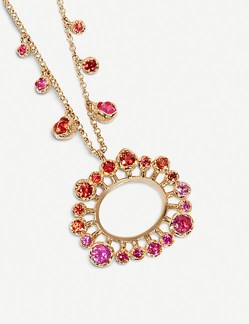 ANNOUSHKA Hidden Reef 18ct yellow-gold and sapphire necklace