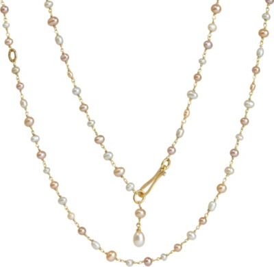 ANNOUSHKA Seed Pearl and 18ct yellow-gold chain necklace