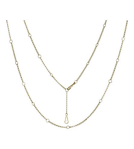 Annoushka Hoopla long 18ct yellow-gold long chain