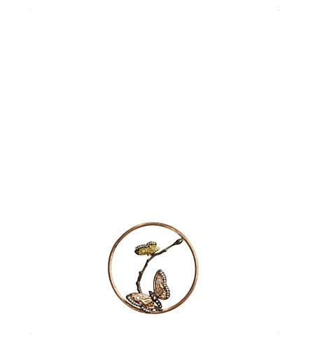 Annoushka BUTTERFLIES HOOPLA 18CT ROSE-GOLD AND DIAMOND PENDANT