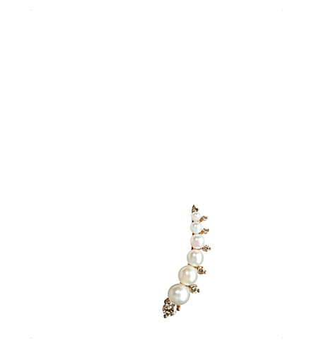Annoushka DIAMONDS & PEARLS 18CT ROSE-GOLD RIGHT EAR PIN