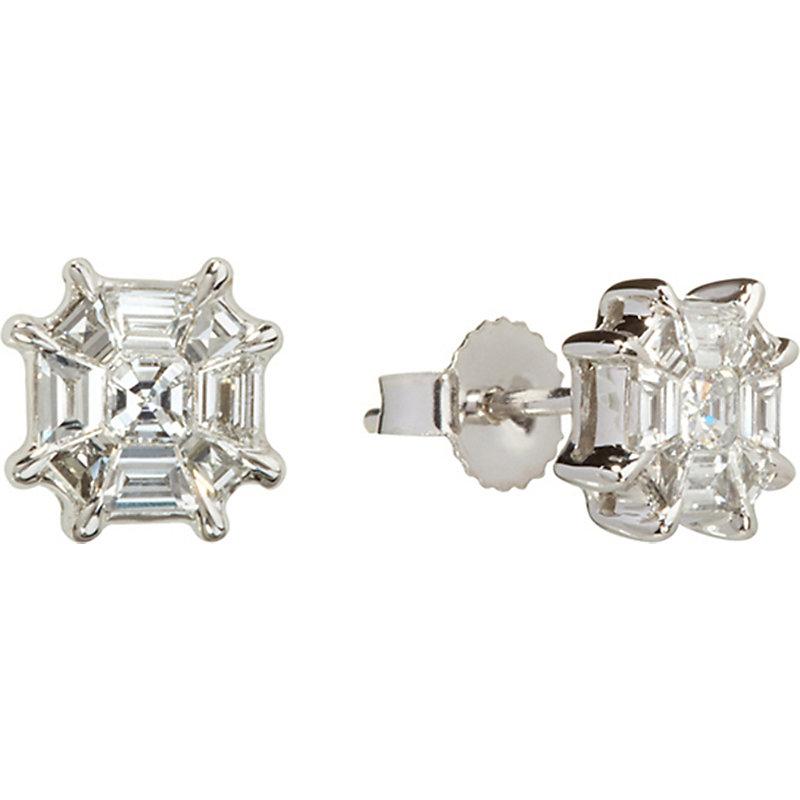 Annoushka Pavilion 18ct white-gold and diamond stud earrings