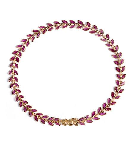 Annoushka Ruby Vine 18ct gold and ruby bracelet