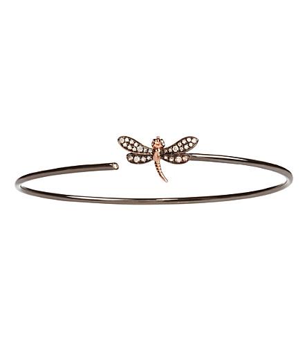 Annoushka Dragonfly 18ct yellow-gold and diamond bangle