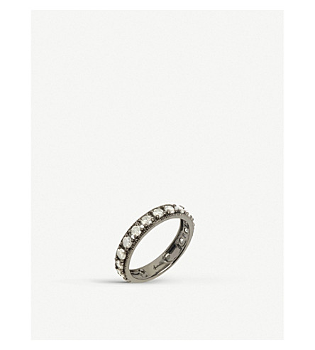 Annoushka Dusty Diamonds 18ct white-gold and diamond eternity ring